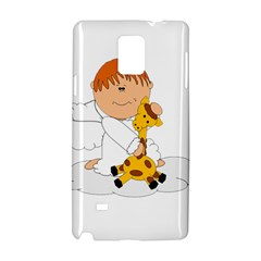 Pet Giraffe Angel Cute Boy Samsung Galaxy Note 4 Hardshell Case by Nexatart