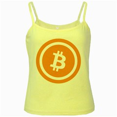 Bitcoin Cryptocurrency Currency Yellow Spaghetti Tank by Nexatart