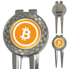 Bitcoin Cryptocurrency Currency 3 In 1 Golf Divots