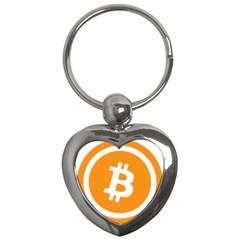 Bitcoin Cryptocurrency Currency Key Chains (heart)  by Nexatart