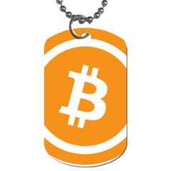 Bitcoin Cryptocurrency Currency Dog Tag (two Sides)