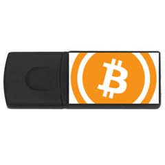 Bitcoin Cryptocurrency Currency Usb Flash Drive Rectangular (4 Gb)