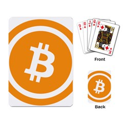 Bitcoin Cryptocurrency Currency Playing Card by Nexatart