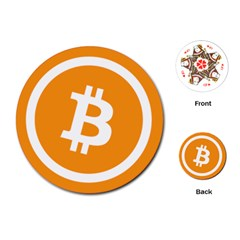 Bitcoin Cryptocurrency Currency Playing Cards (round)