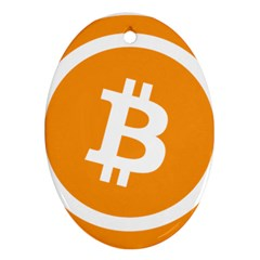Bitcoin Cryptocurrency Currency Oval Ornament (two Sides) by Nexatart
