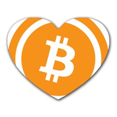 Bitcoin Cryptocurrency Currency Heart Mousepads by Nexatart