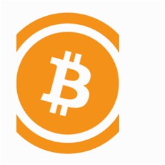 Bitcoin Cryptocurrency Currency Small Garden Flag (two Sides) by Nexatart