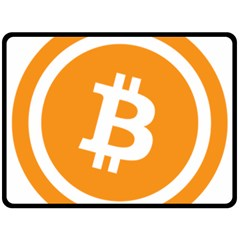 Bitcoin Cryptocurrency Currency Double Sided Fleece Blanket (large)