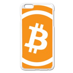 Bitcoin Cryptocurrency Currency Apple Iphone 6 Plus/6s Plus Enamel White Case by Nexatart