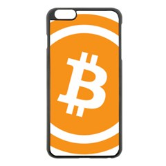 Bitcoin Cryptocurrency Currency Apple Iphone 6 Plus/6s Plus Black Enamel Case