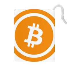 Bitcoin Cryptocurrency Currency Drawstring Pouches (extra Large)