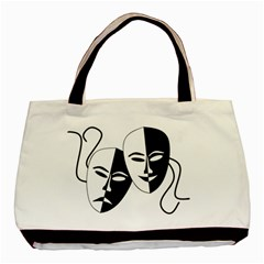 Theatermasken Masks Theater Happy Basic Tote Bag (two Sides)