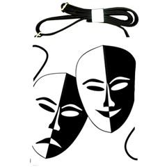 Theatermasken Masks Theater Happy Shoulder Sling Bags by Nexatart