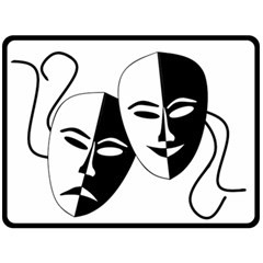 Theatermasken Masks Theater Happy Fleece Blanket (large)  by Nexatart