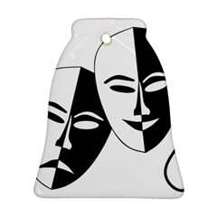 Theatermasken Masks Theater Happy Bell Ornament (two Sides) by Nexatart