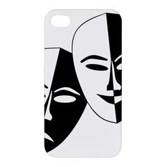Theatermasken Masks Theater Happy Apple Iphone 4/4s Premium Hardshell Case