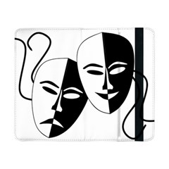 Theatermasken Masks Theater Happy Samsung Galaxy Tab Pro 8 4  Flip Case