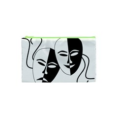 Theatermasken Masks Theater Happy Cosmetic Bag (xs) by Nexatart