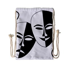Theatermasken Masks Theater Happy Drawstring Bag (small) by Nexatart