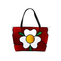 Flower Rose Glass Church Window Shoulder Handbags by Nexatart