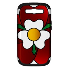 Flower Rose Glass Church Window Samsung Galaxy S Iii Hardshell Case (pc+silicone)