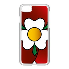 Flower Rose Glass Church Window Apple Iphone 7 Seamless Case (white) by Nexatart