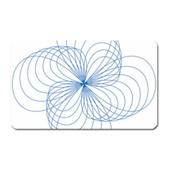 Blue Spirograph Pattern Drawing Design Magnet (rectangular) by Nexatart