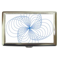 Blue Spirograph Pattern Drawing Design Cigarette Money Cases