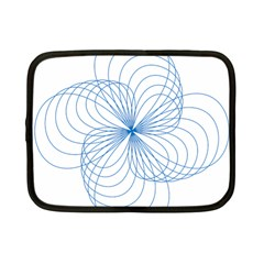 Blue Spirograph Pattern Drawing Design Netbook Case (small)  by Nexatart
