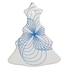 Blue Spirograph Pattern Drawing Design Christmas Tree Ornament (two Sides) by Nexatart