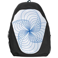 Blue Spirograph Pattern Drawing Design Backpack Bag by Nexatart
