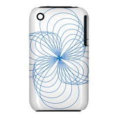 Blue Spirograph Pattern Drawing Design Iphone 3s/3gs by Nexatart