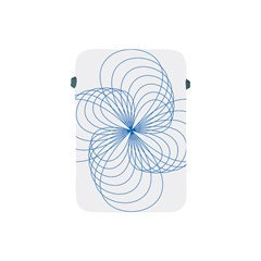Blue Spirograph Pattern Drawing Design Apple Ipad Mini Protective Soft Cases by Nexatart