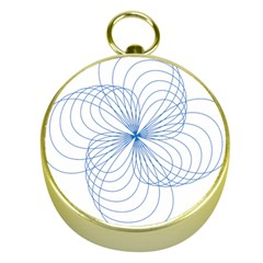 Blue Spirograph Pattern Drawing Design Gold Compasses by Nexatart
