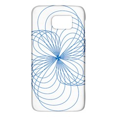 Blue Spirograph Pattern Drawing Design Galaxy S6 by Nexatart