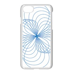 Blue Spirograph Pattern Drawing Design Apple Iphone 7 Seamless Case (white) by Nexatart
