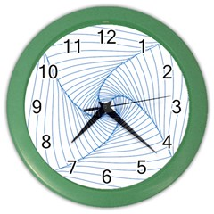 Spirograph Pattern Drawing Design Color Wall Clocks by Nexatart