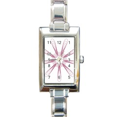 Spirograph Pattern Circle Design Rectangle Italian Charm Watch