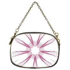 Spirograph Pattern Circle Design Chain Purses (two Sides)  by Nexatart