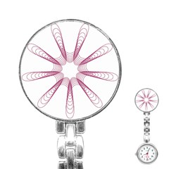 Spirograph Pattern Circle Design Stainless Steel Nurses Watch by Nexatart