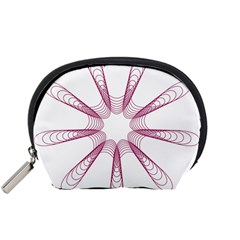 Spirograph Pattern Circle Design Accessory Pouches (small)  by Nexatart