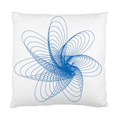 Spirograph Pattern Drawing Design Blue Standard Cushion Case (two Sides)