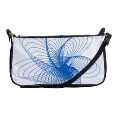 Spirograph Pattern Drawing Design Blue Shoulder Clutch Bags