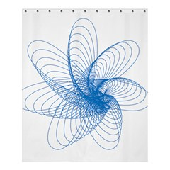 Spirograph Pattern Drawing Design Blue Shower Curtain 60  X 72  (medium)  by Nexatart