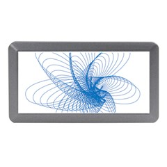 Spirograph Pattern Drawing Design Blue Memory Card Reader (mini) by Nexatart