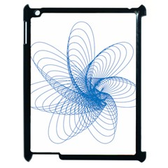 Spirograph Pattern Drawing Design Blue Apple Ipad 2 Case (black) by Nexatart