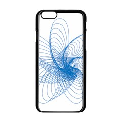 Spirograph Pattern Drawing Design Blue Apple Iphone 6/6s Black Enamel Case by Nexatart