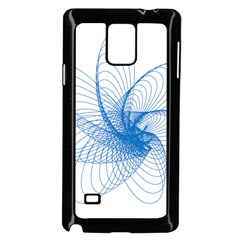 Spirograph Pattern Drawing Design Blue Samsung Galaxy Note 4 Case (black)