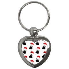 Pattern Sheep Parachute Children Key Chains (heart)  by Nexatart