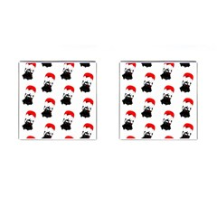Pattern Sheep Parachute Children Cufflinks (square) by Nexatart
